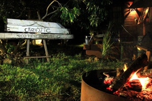 Camp fire at Otentic Lodge Mauritius